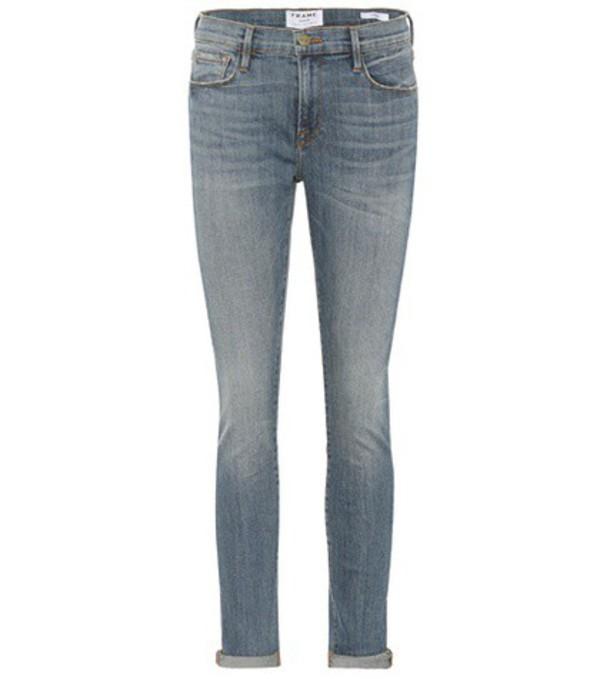 Frame Skinny Ankle jeans in blue