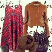 bag,tartan,tartan dress,dress