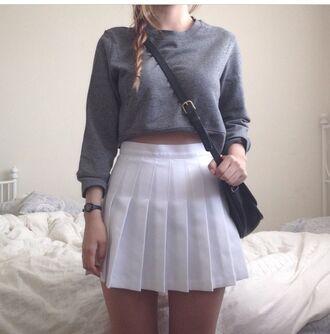 Pleated White Tennis Skirt - Shop for Pleated White Tennis Skirt ...