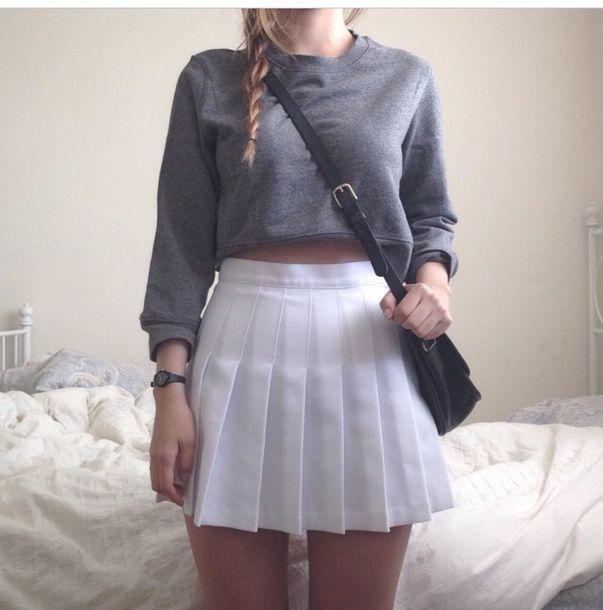 4d5d65185 skirt white pleated pleated skirt white tennis skirt tennis whitetennis  dressy cute folds high high waised