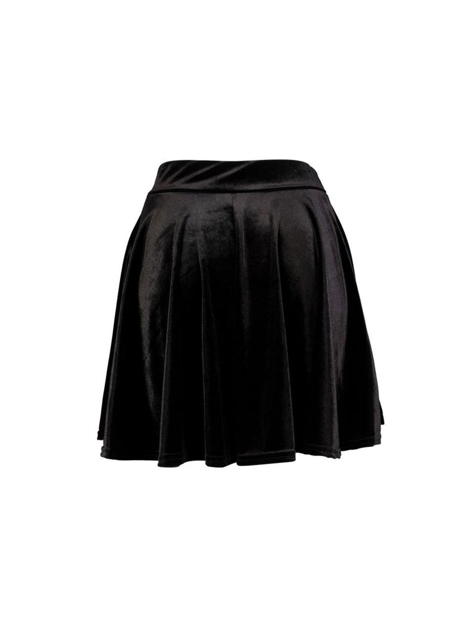 Velvet Black Skater Skirt