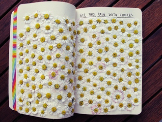 home accessory book notebook cute flowers pretty daisy