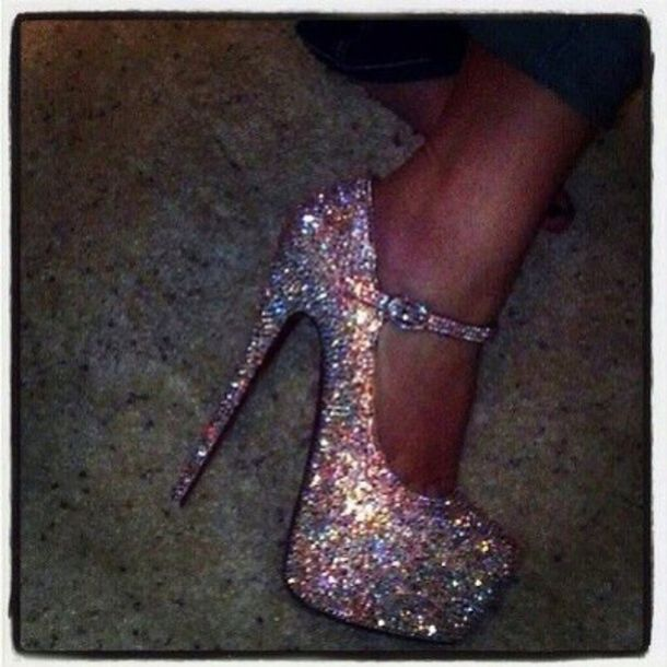 af072b7b208a shoes glitter shoes glitter heel shoes multicolor high heels straps prom  shoes