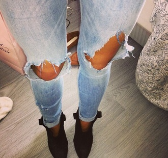 jeans skinny jeans holes