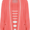 Destiny striped pocket knitted twin set