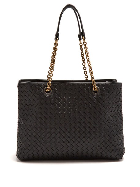 Bottega Veneta leather black bag