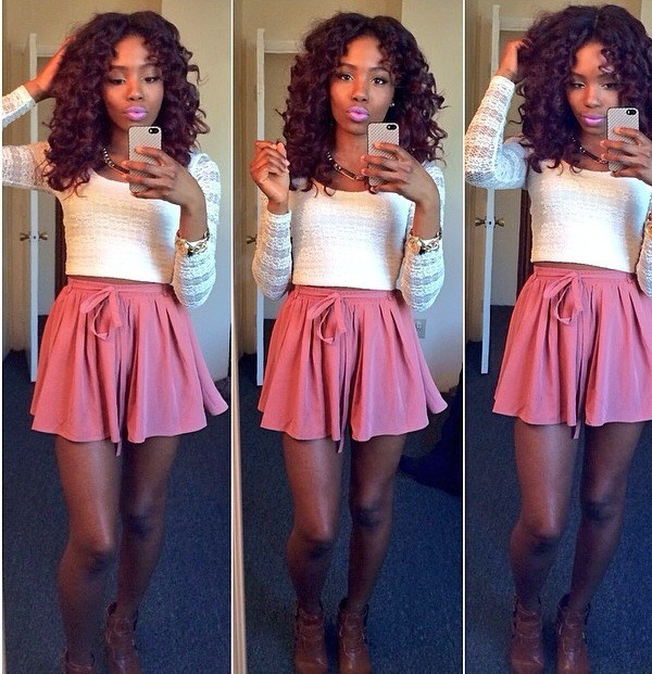 blouse summer outfits lace dress skater skirt crop tops skirt
