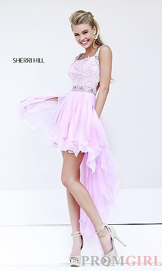 Pink High Low Dresses, High Low Prom Dress Sherri Hill- PromGirl