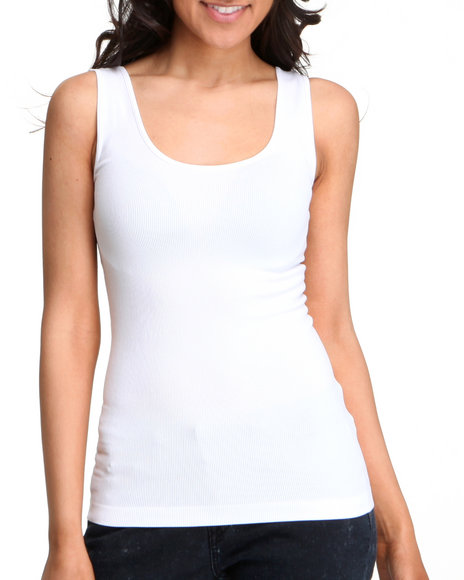 Buy   basic essentials women seanless double scoop tank top white small/medium and wear it!