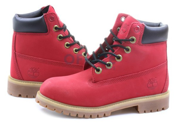 toddler timberland boots for boys red