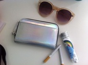 bag,clutch,holographic