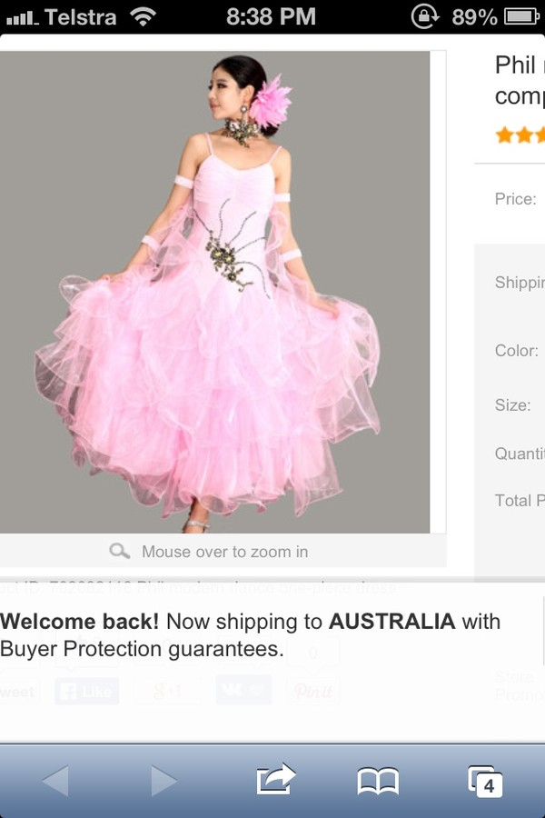 dress pink ballroom gown