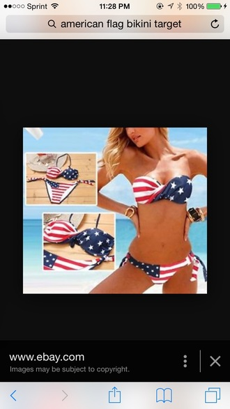 swimwear american flag swimsuit red white blue women's american flag bikini bikini
