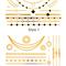 Boho style foil gold temporary tattoo sticker|disheefashion