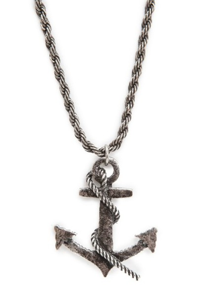 jewels necklace anchor pendant necklace anchor