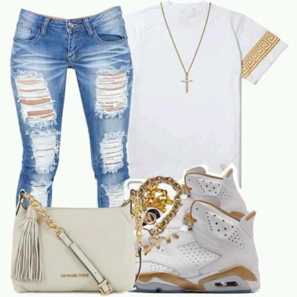 shoes jordans shirt jeans jewels urban
