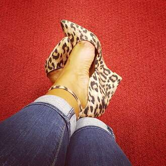 shoes lepoard print