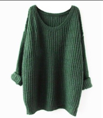 sweater loose fit sweater grunge green fall outfits winter sweater