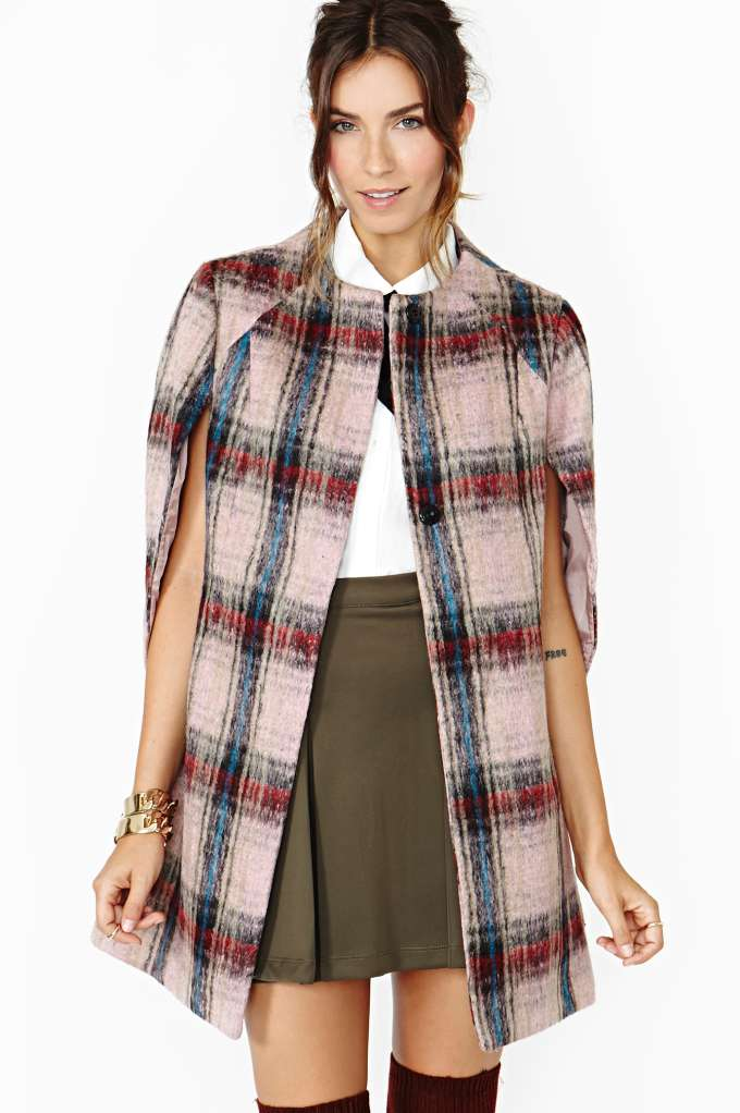 Parisienne Cape Coat in  Clothes Jackets   Coats Coats at Nasty Gal