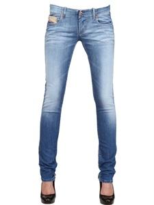 Stretch denim grupee jeans