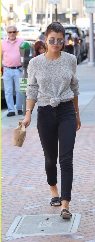 sweater sofia richie grey sweater oversized sweater