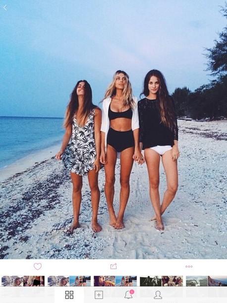 swimwear brandy melville bikini high waisted bikini