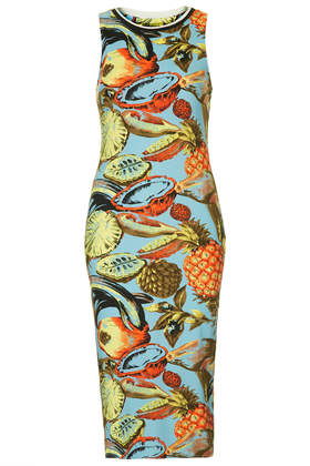 Island Fruit Print Bodycon Tank Dress - Topshop USA