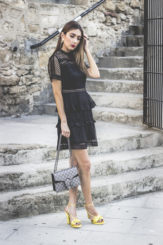 shoes and basics blogger dress shoes bag sunglasses black dress sandals yellow shoes summer outfits