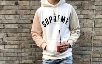 top supreme peach cream hoodie supremehoodie dope white