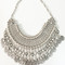 Natalie b jewelry fit for a queen statement collar in silver