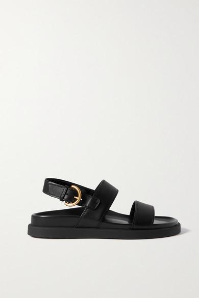 Gianvito Rossi - Bilbao Leather Sandals - Black - Bilbao Leather Sandals
