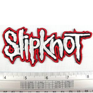 "Amazon.com: Slipknot Heavy Metal American Rock Band Iron on Patch Embroidered Racing DIY T-shirt Jacket 1.75x4.5"" Red: Everything Else"