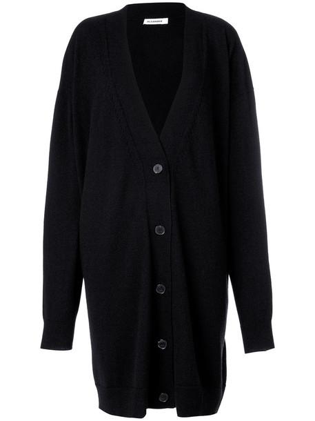 Jil Sander - longline cardigan - women - Cashmere - 42, Cashmere