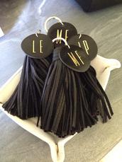 home accessory,monogram,tassel,keychain