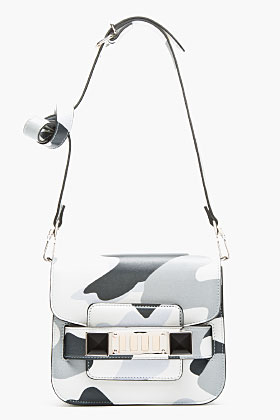Proenza Schouler Grayscale Leather Tiny Ps11 Shoulder Bag for women | SSENSE