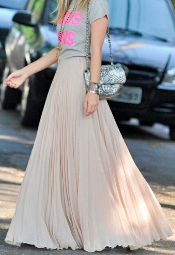 Ombre Stretch Cotton Flared Long Skirt | Islamic Long Maxi Skirts ...