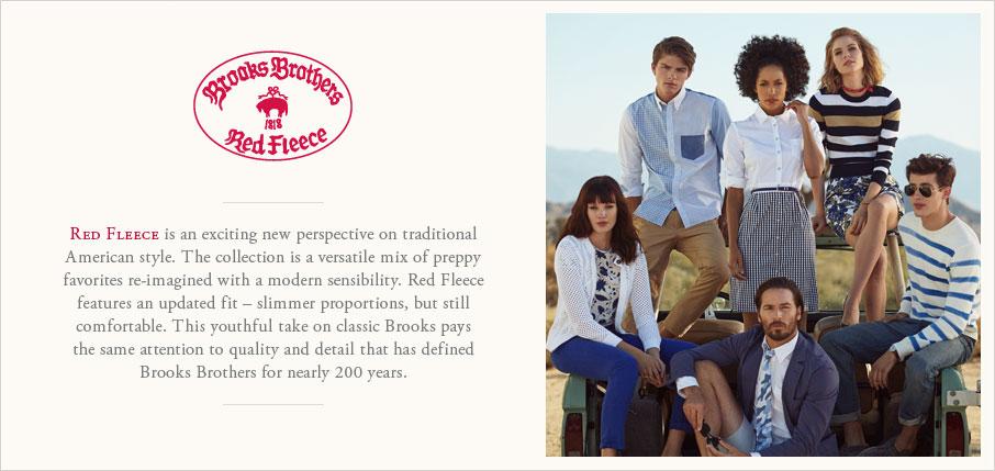 Men's Red Fleece Blue Stripe Oxford Sport Shirt