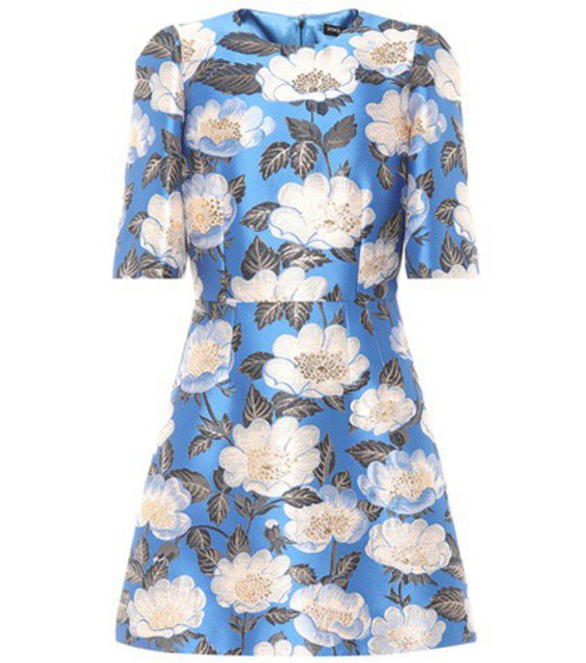 Dolce & Gabbana Jacquard minidress in blue