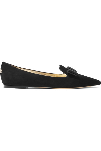Jimmy Choo - Gala suede point-toe flats