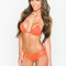 Montce swim - naranja euro top | double string bikini top