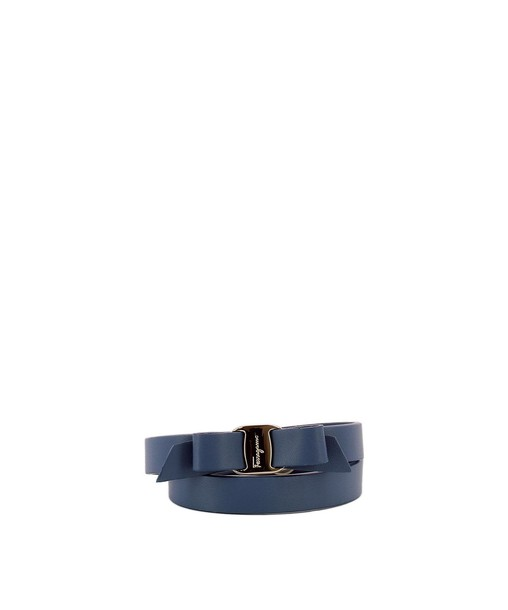 Salvatore Ferragamo leather blue jewels