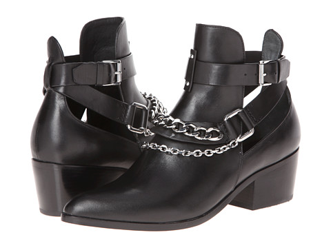 Belle by Sigerson Morrison Demetra Black Leather - Zappos Couture