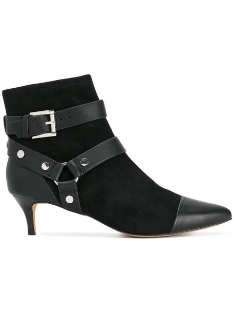 Rebecca Minkoff women leather suede black shoes