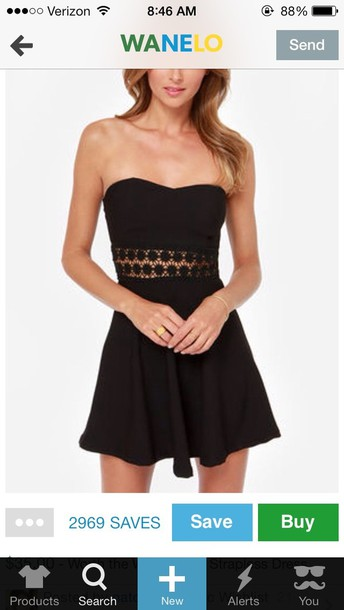 dress little black dress black cut-out dress lace dress