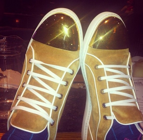 shoes sneakers trainers gold street style sam smith