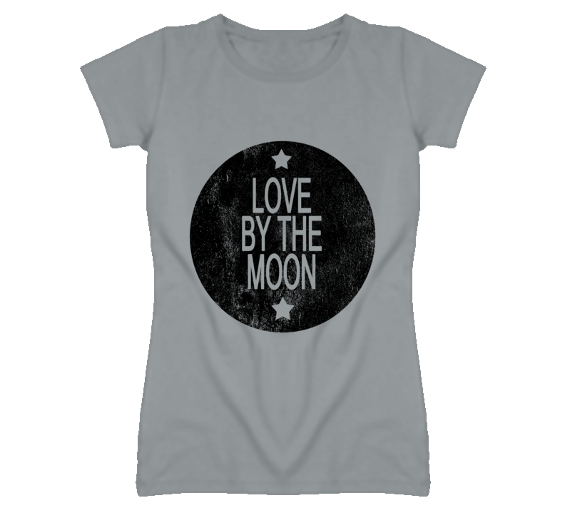 Love By The Moon Vintage Look Distressed Graphic T Shirt