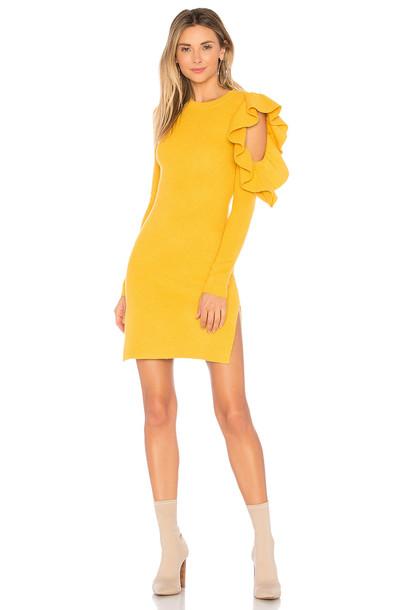 Lovers + Friends dress boss mustard