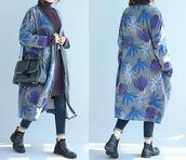 coat,gray large size coat