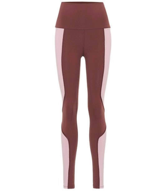 Live The Process Geometric leggings in red