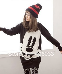 Aliexpress.com : buy 2014 new mickey mouse sweater 3 color large size loose sleeve crewneck sweater from reliable mickey mouse sweater suppliers on yes global star trading